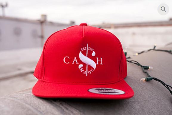 Cash Made Snapback Flat Bill - Red/White