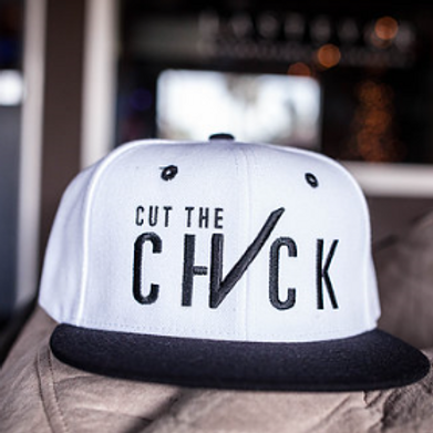 Cut The Check Snapback - White/Black