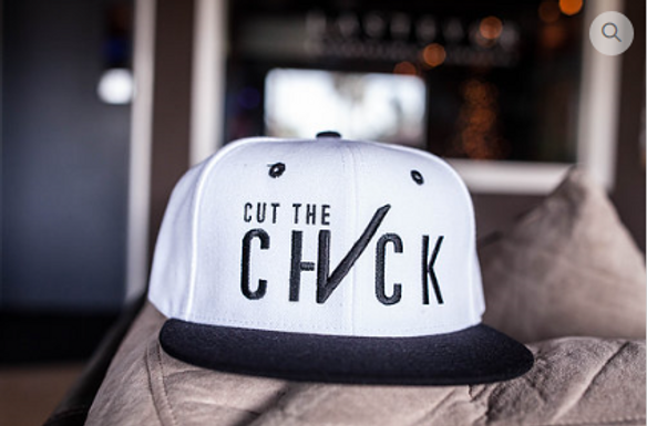 Cut The Check Snapback - White/Black