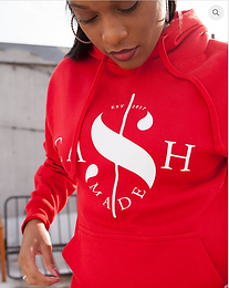 Cash Made Unisex Hoodie - Red/White