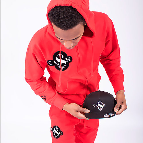 Cash Made Unisex Joggers - Red