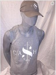 Cash Made Men's Tank - Grey/White