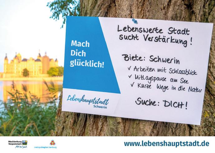 Plakat-Kampagne der Lebenshauptstadt in 19 Städten