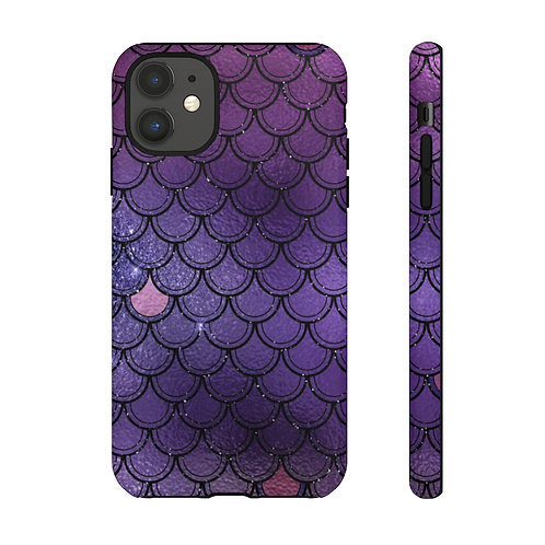 Indigo Glittered Mermaid Scales Designer Tough Case
