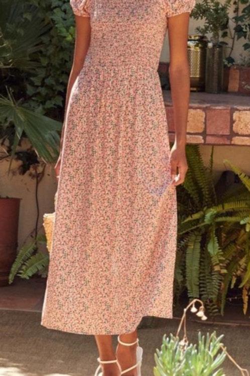SADIE & SAGE Dizzy Smock Midi Dress