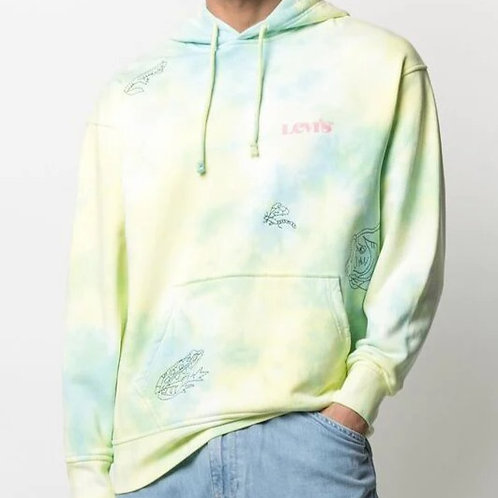 LEVI'S Tie-Dye Embroidered Hoodie