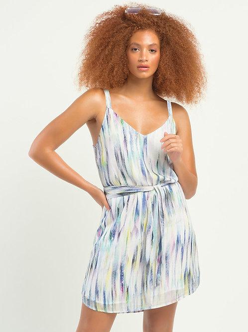 DEX Belted Watercolour Dress