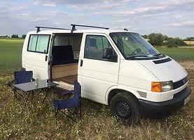 VW T4 Camper Emely mieten in Rostock