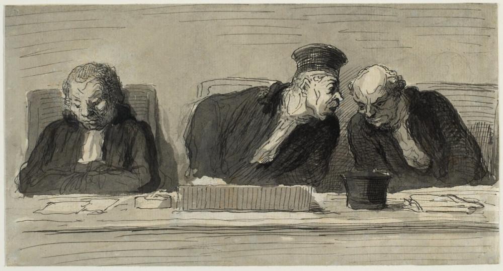Juges, Daumier, peinture