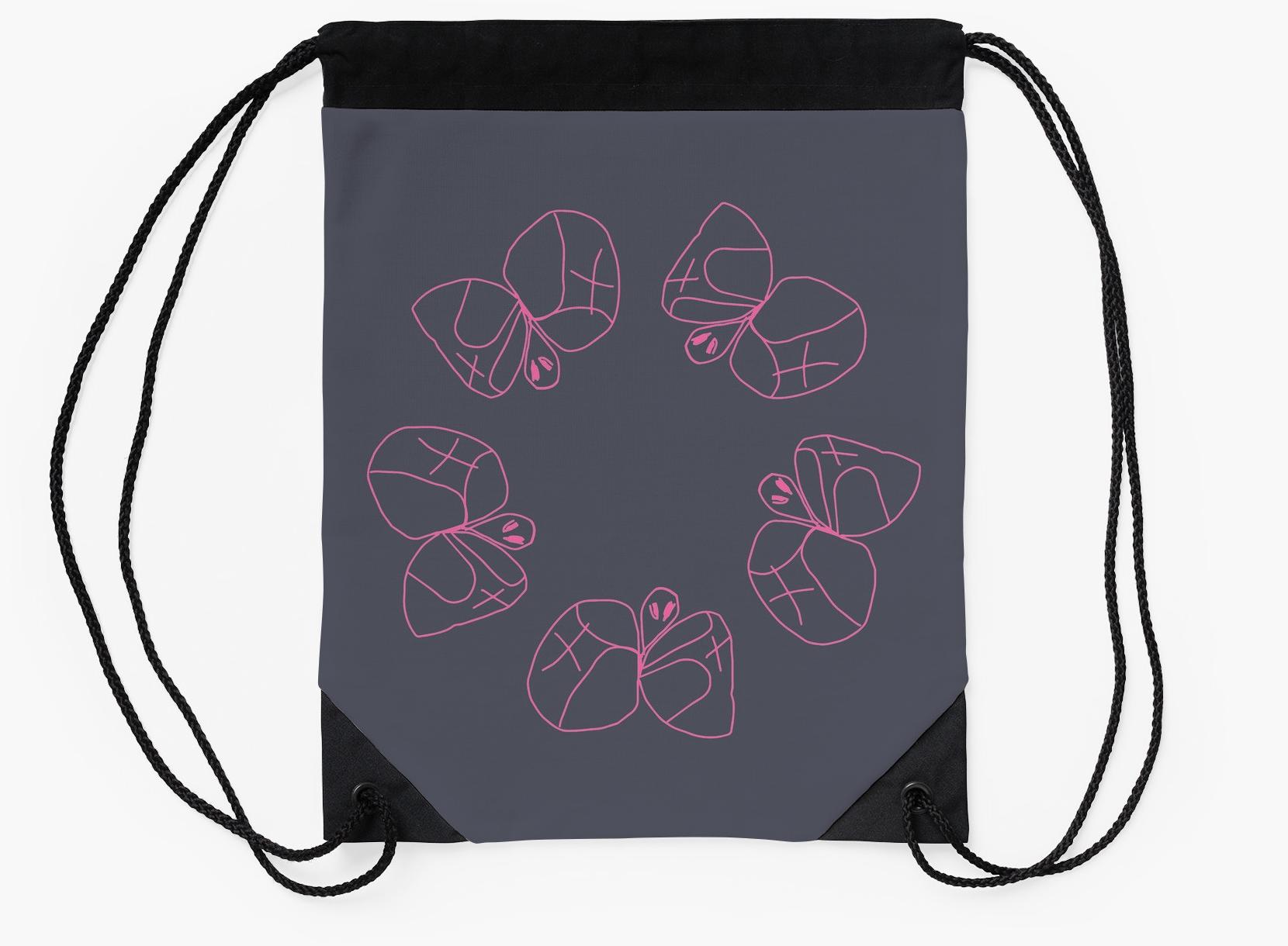 Butterfly Circle_drawstringbag