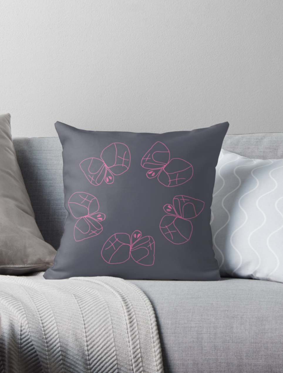 Butterfly Circle_cushioncover