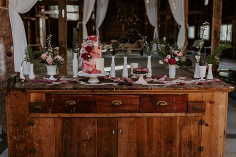 Natalia Provencher, dessert table setup