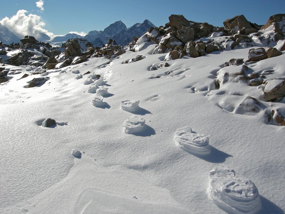 Frozen yeti tracks