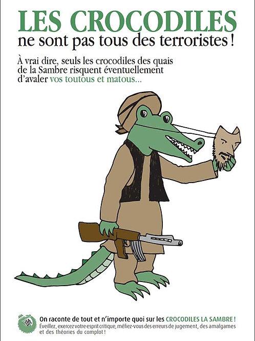 Pack de 10 Carte postale Crocodile de la Sambre