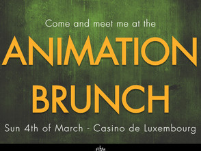 Come and meet me at the ANIMATION BRUNCH on Sunday 4th of March.