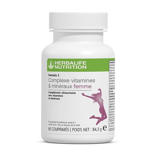 F2 Complexe - Vitamines & Minéraux - Femme