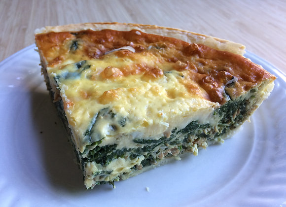 QUICHE SAUMON-ÉPINARDS ET BRIE