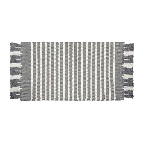 Badmat Stripes & Structure - Antraciet