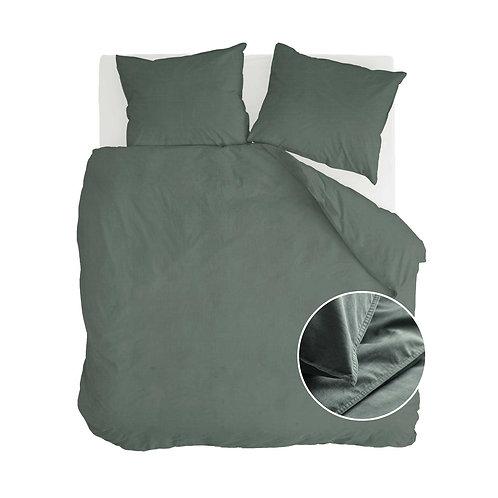 Dekbedovertrek Vintage Cotton Donker Groen