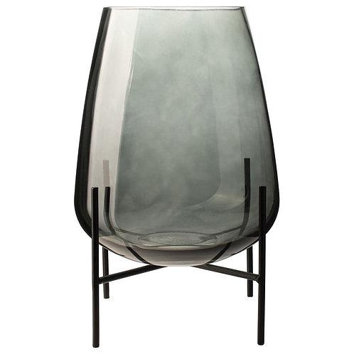 Glazen vaas met standaard ø19cm