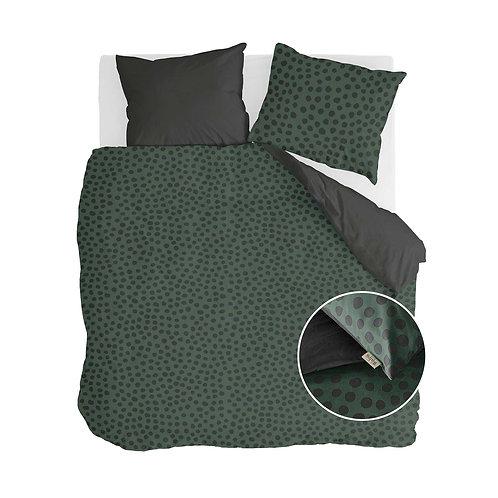 Dekbedovertrek Spots & Dots Donker Groen