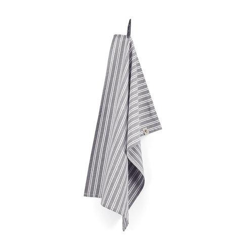 Keukendoek Dry with Stripes Off Black   set van 4