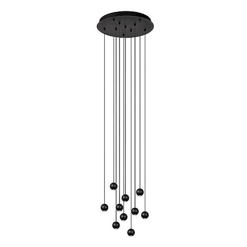 Hanglamp Balls 10   zwart   rond