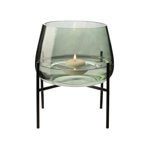 Glazen vaas met standaard ø17,5cm
