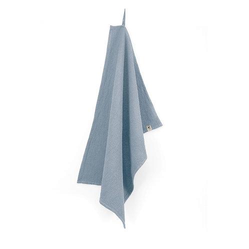 Keukendoek Dry with Cubes Uni jeansblauw | set van 4