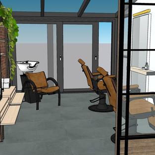 3D Visualisatie thuis kapsalon
