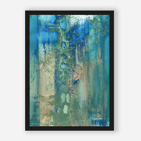 BLUE GREEN ABSTRACT