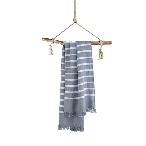 Hamamdoek Fouta Sunny Stripes Blauw
