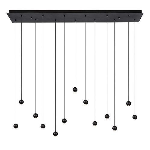 Hanglamp Balls 13   zwart   rechthoek