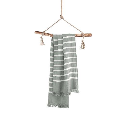 Hamamdoek Fouta Sunny Stripes Jade