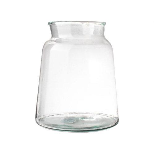 Vaas gerecycled glas ø21x22cm