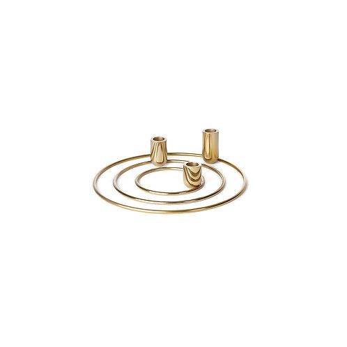 Orbital Set van 3 - brass