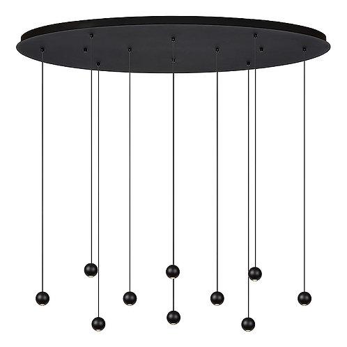 Hanglamp Balls 10   zwart   ovaal