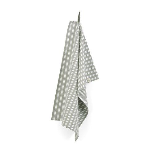Keukendoek Dry with Stripes Legergroen | set van 4