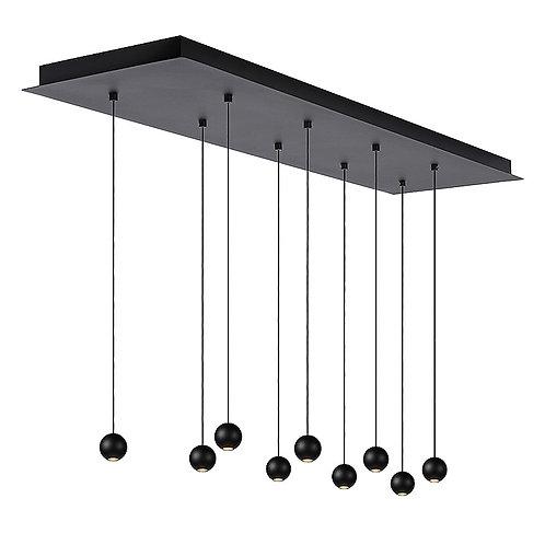 Hanglamp Balls 9 | zwart | rechthoek