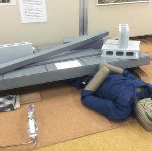 防災学習センターで震度7を体験