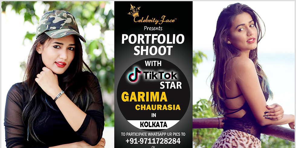 Apply for PhotoShoot with TikTok Star Garima - Gima in Delhi on 30th March