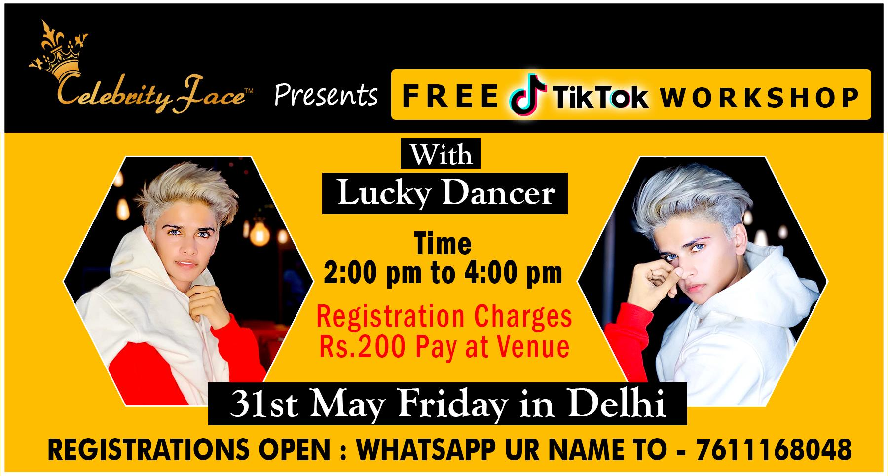 Free TikTok WorkShop with Top TikTok Star Lucky Dancer in