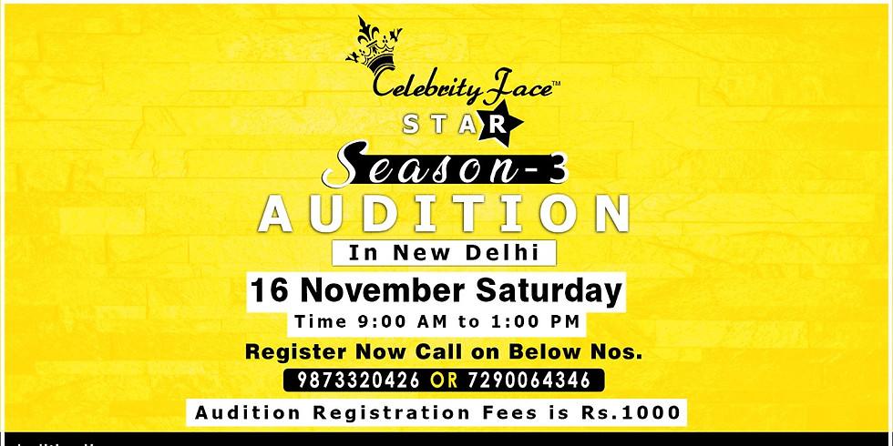 CFSTAR SEASON 3 AUDITION ON 16TH NOV IN NEW DELHI