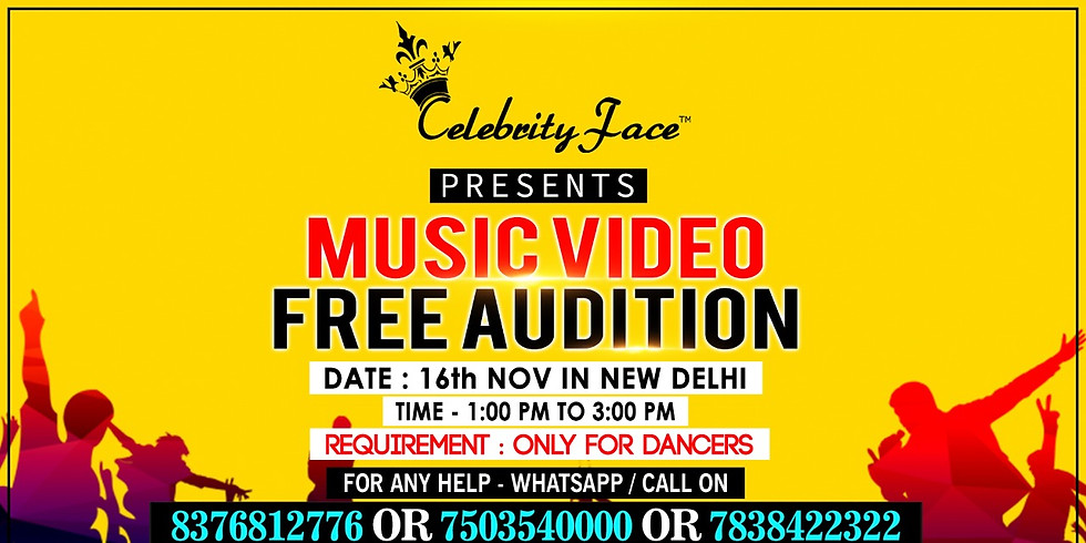 Free Music Video Audition in Delhi on 16th Nov