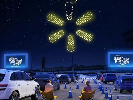 Walmart organizzerà spettacoli di luci con droni per le vacanze