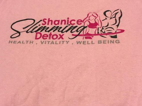 Shanice Slimming Detox T-Shirt (Pink)
