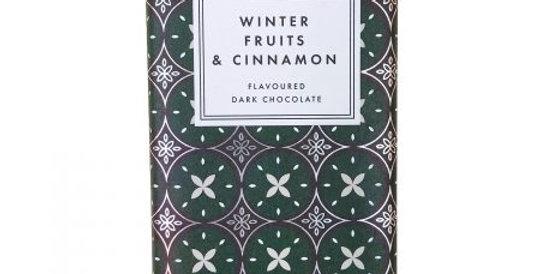 Winter Fruits & Cinnamon Dark Chocolate Bar