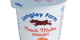 Longley Farm Peach Melba Yogurt 150g