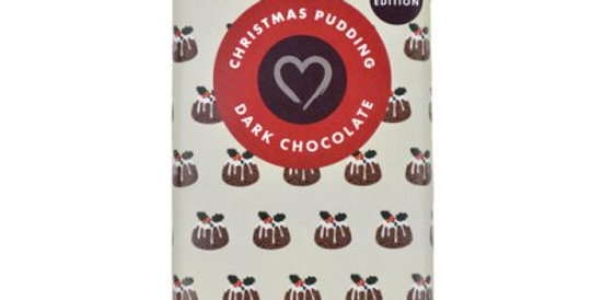 Christmas Pudding Flavoured Dark Chocolate Bar