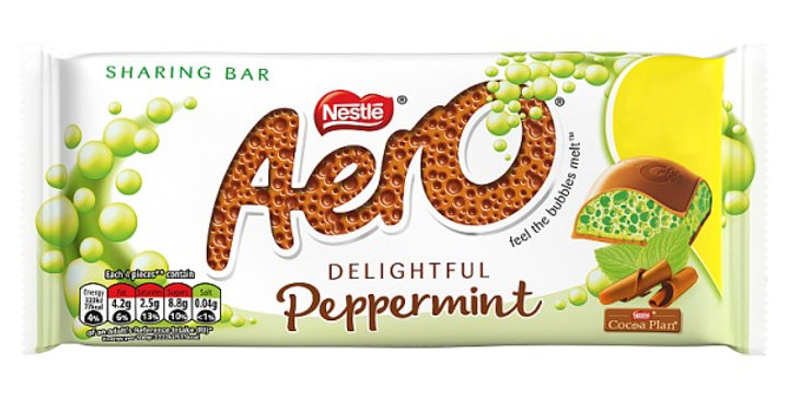 Aero Peppermint Mint Chocolate Sharing Bar 100g £1